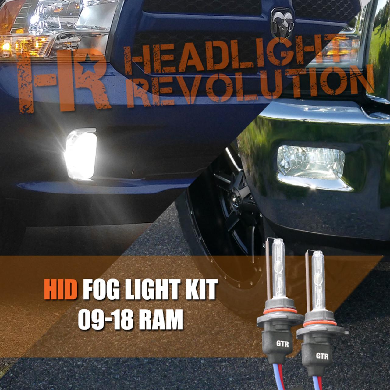 2009 - 2018 Dodge Ram Fog Light Upgrade - HID Conversion Kit