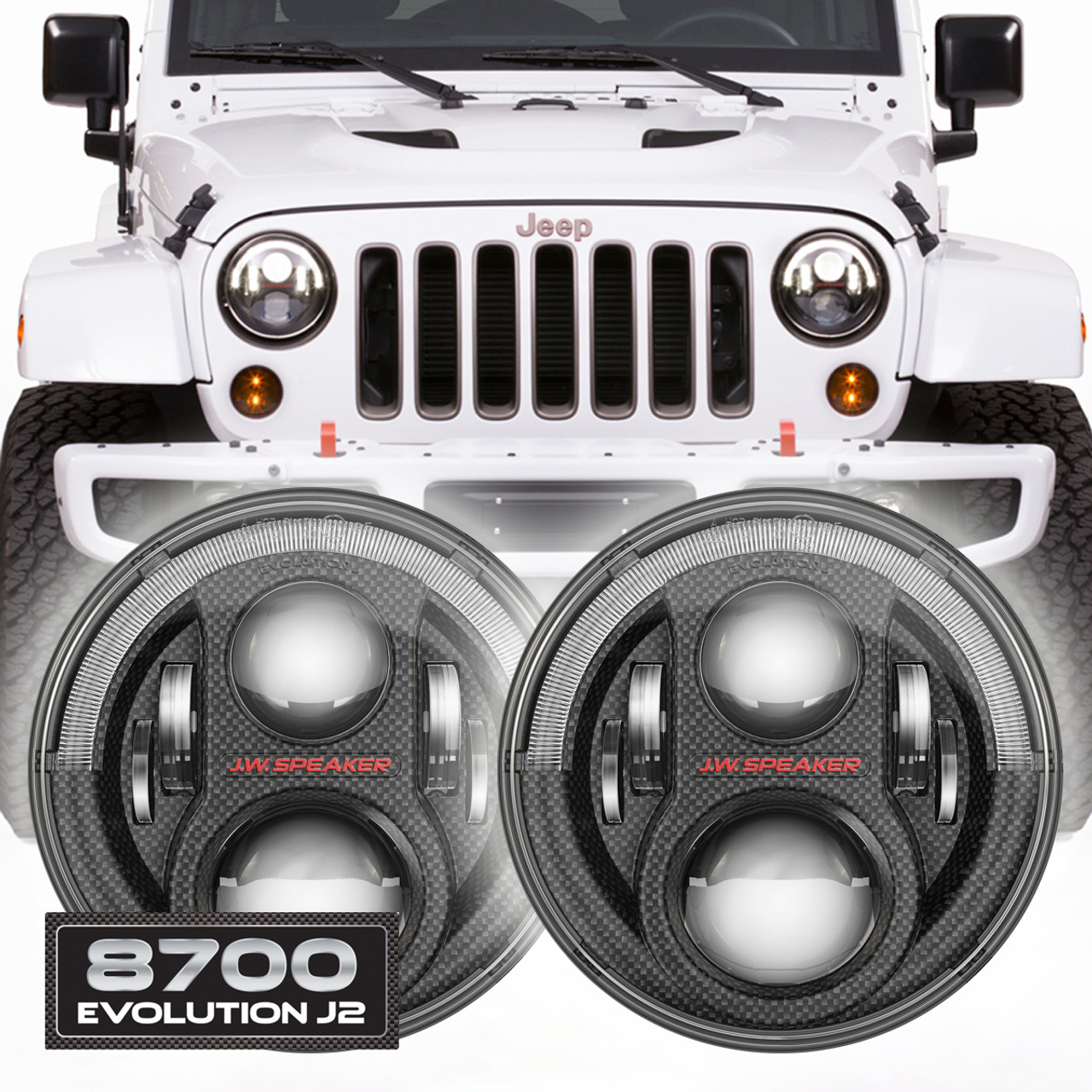 Jw Speaker 8700 Evolution J2 Jeep Wrangler Led Headlights