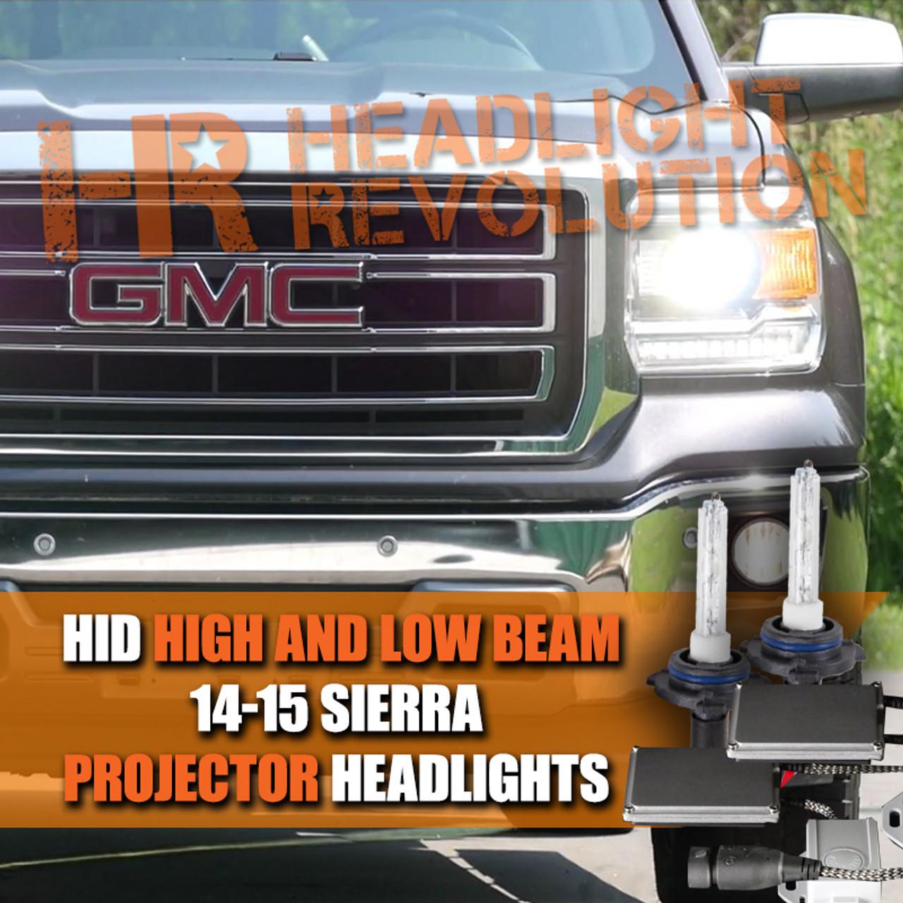 gmc sierra hid headlight bulb upgrade