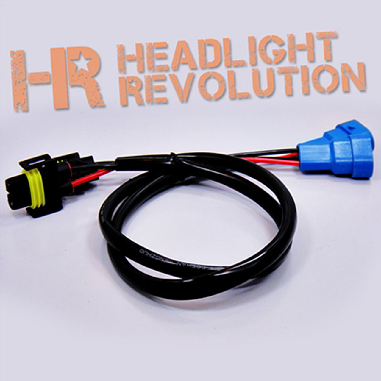 Headlight Revolution H11 into 9005 Wire Harness Adapters on