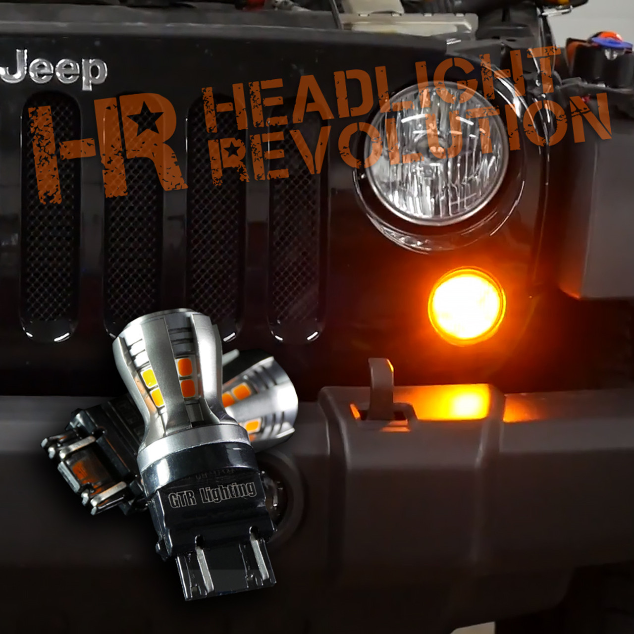 2007 - 2017 JEEP JK FRONT TURN SIGNAL LED UPGRADE KIT