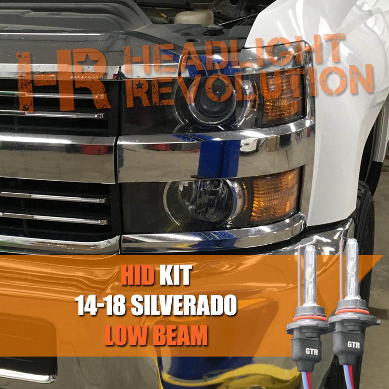 2014 - 2018 Chevrolet Silverado 2500HD 3500HD Low Beam HID Conversion A Wiring Diagram For Chevy Silverado Hid Headlights on