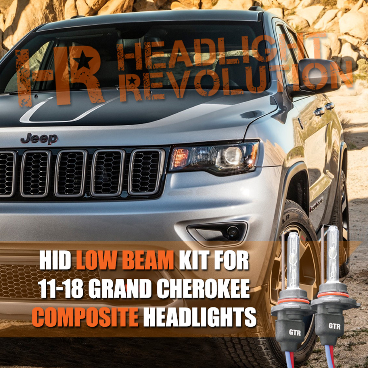 2011 - 2018 Jeep Grand Cherokee HID Low Beam Conversion Kit Jeep Wiring Harness Conversion Kit on