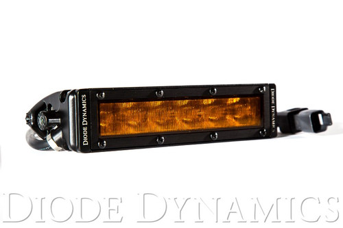 """Diode Dynamics SS6 Stage Series 6"""" Light Bar Wide Pattern - Amber LED"""