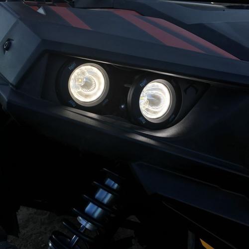 Vision X LED Polaris RZR Factory Headlight Upgrade Kit BRACKETS ONLY