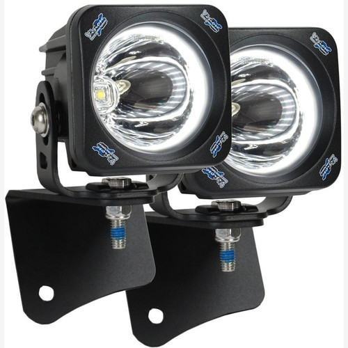 Vision X JEEP WRANGLER TJ (1997-2006) A-PILLAR LIGHT MOUNT BRACKET WITH OPTIMUS HALO SQUARE 15 DEGREE LIGHTS AND HARNESS