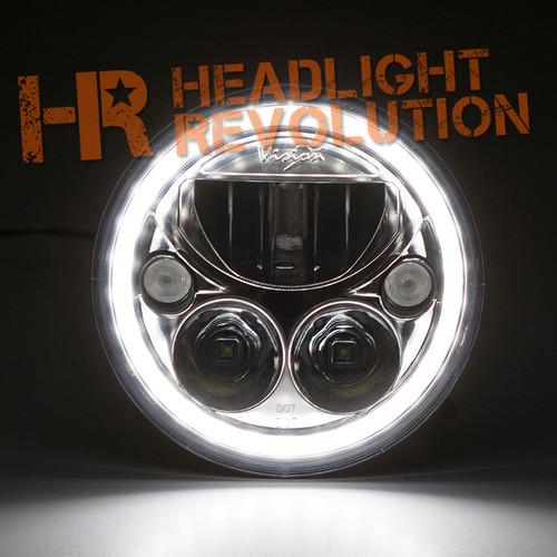 Vision X Jeep Jk Headlights Pair Of 7 Quot Round Vortex Led