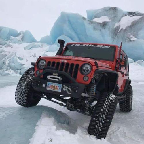 Vision X Jeep JK LED Headlights - Black-Chrome Vortex LED Headlights