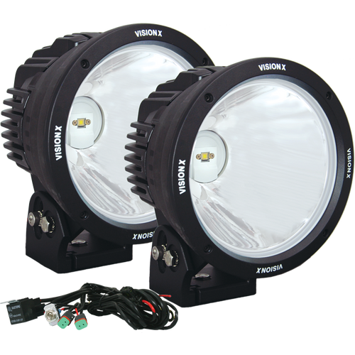 "Vision X 8.7"" CANNON BLACK 1 90W LED 10 Degree NARROW LIGHT KIT"