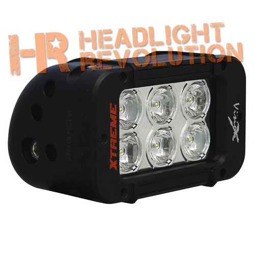 "Vision X 5"" XMITTER PRIME AMBER LED BAR BLACK 6 LED'S 10° NARROW"