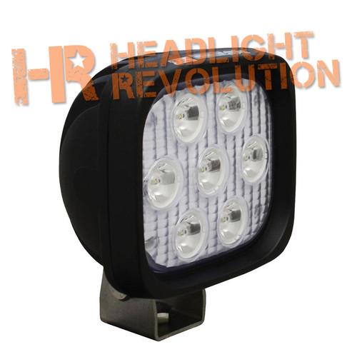 "Vision X 4"" SQUARE UTILITY MARKET XTREME BLACK 7 5W LED'S 40 degree WIDE"