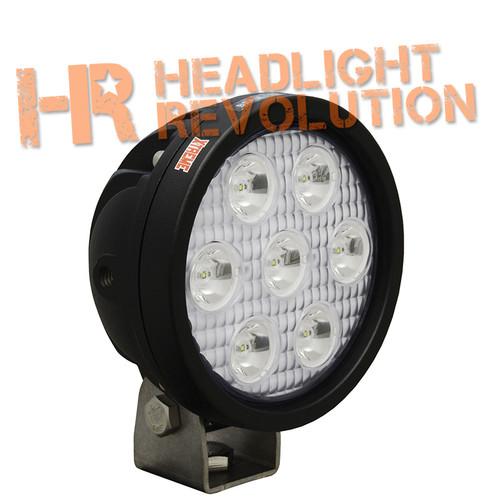 """Vision X 4"""" ROUND UTILITY MARKET XTREME BLACK 7 5W LED'S 10 degree NARROW"""
