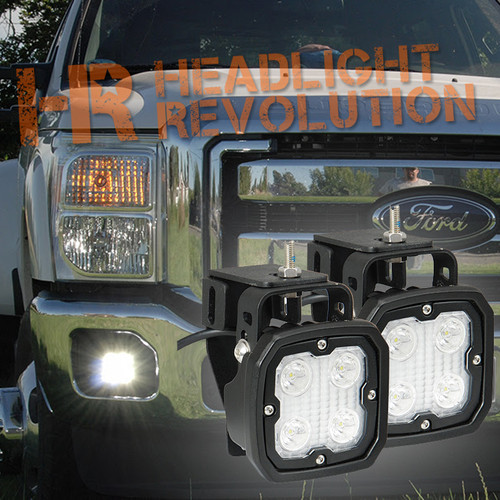 Vision X 1999-2014 FORD SUPER DUTY FOG LIGHT UPGRADE KIT WITH DURA-410 LIGHTS AND HARNESS