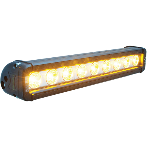 """Vision X 12"""" XMITTER LOW PROFILE BLACK 9 3W AMBER LED'S 10° NARROW"""