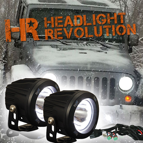Vision X 10-17 JEEP JK FOG LIGHT UPGRADE KIT WITH OPTIMUS HALO