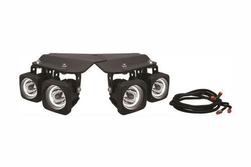 2010 - 2012 Ford Raptor Optimus Halo LED Fog Lights with Brackets