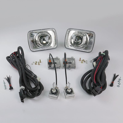 "Starr HID STARR HID XP6054C Bi-Xenon Chrome Projector Headlights Kit 5x7"" Rectangular Sealed Beam"