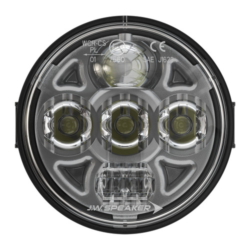 "JW Speaker Model 8415 Evolution PAR36 4.5"" Round LED Headlight 12-24V SAE/ECE High/Low Beam Light with Xenoy Housing & Fixed Panel Mount"