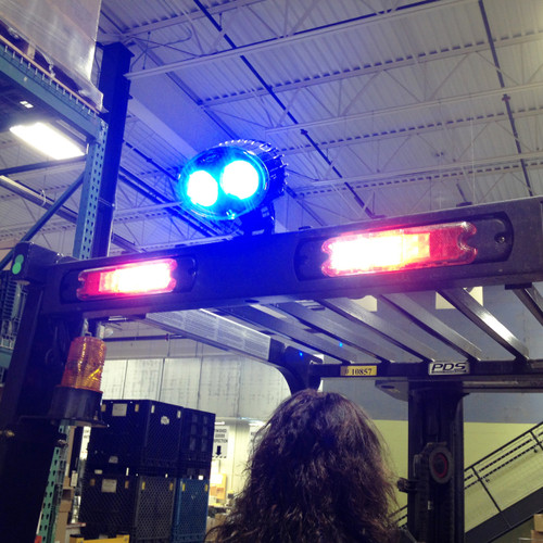 JW Speaker Model 770 - 12-110V LED Blue Material Handling Safety Light