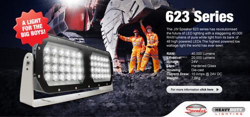 JW Speaker Model 623 16-60V LED Work Light with Wide Flood Beam Pattern