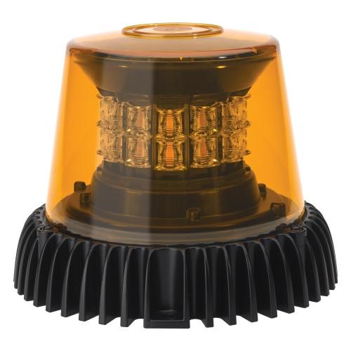 JW Speaker Model 601 12-24V ECE/SAE 3-Mode Amber Class I LED Strobe Light with Black Housing