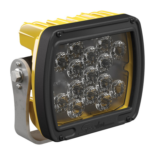JW Speaker Model 526 	12-24V LED Work Light with Yellow Housing, Glass Lens & Anti-Glare Beam Pattern