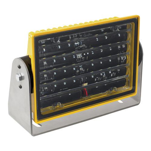 JW Speaker Model 523 12-24V LED Work Light with Narrow Flood Beam Pattern & Yellow Housing