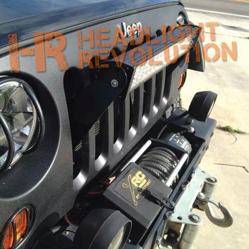 Headlight Revolution JEEP JK Stealth Grill LED Bar Mount