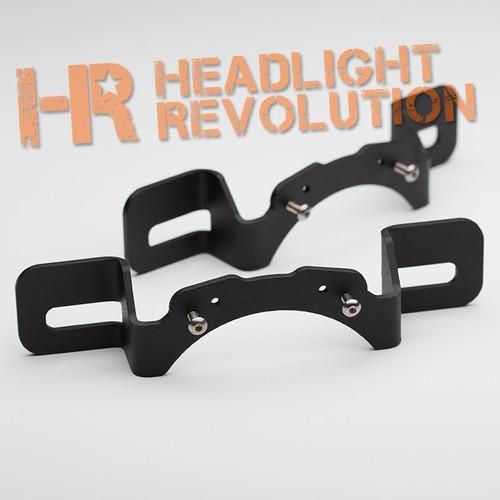 Headlight Revolution Jeep JK Rubicon X Bumper Mount Brackets for 6145 Fog Lights