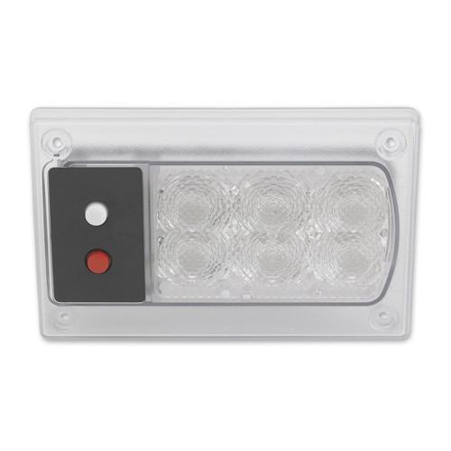JW Speaker Model 417 24V Red/White LED Dome Light with Inner Optics