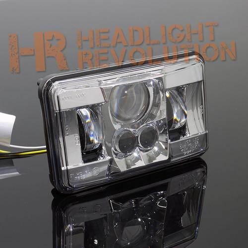 """JW Speaker 8800 Evolution-2 LED 4x6"""" Low Beam Headlight - Chrome"""