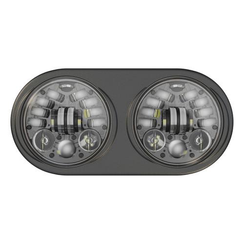 JW Speaker 12V DOT/ECE 8692 LED High & Low Beam Adaptive Headlight w Black Inner Bezel - Pre-assembled 2 Light Kit