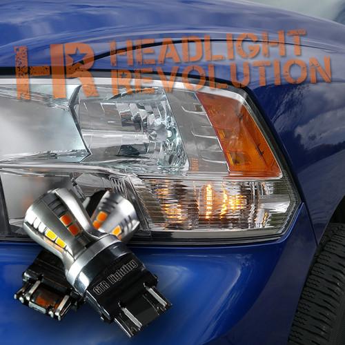2009 - 2018 Dodge Ram Reflector-Style Front LED Turn Signal Bulb Kit