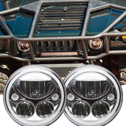1992 - 2004 Hummer H1 LED Headlight Kit - Vision X Vortex XIL-7RD