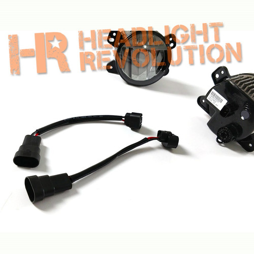 Headlight Revolution 9005 Male to 2504 Female Adapter Wire Harnesses for 2017 OEM Jeep JK LED Fog Lights Install