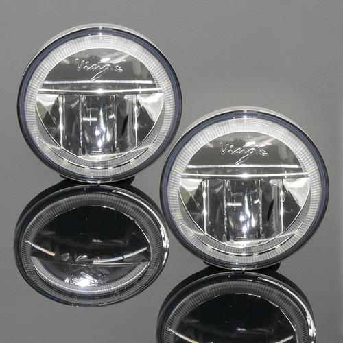 """Vision X 4.5"""" LED Passing Lamp Halo Kit, Chrome (Pair)"""