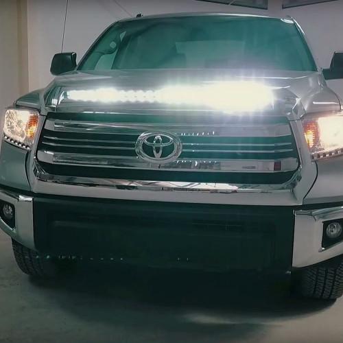 2014-2018 Toyota Tundra Hood Grille Knight Rider LED Light ...