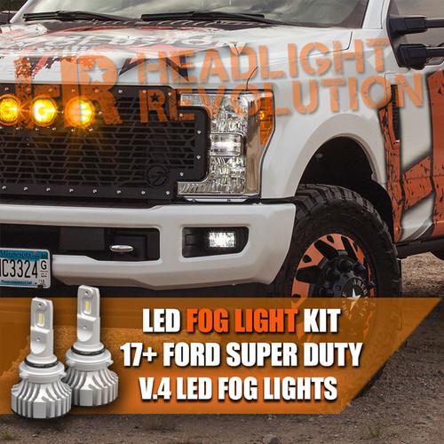 2017+ Ford Super Duty LED Fog Light LED Bulbs Upgrade, V.4