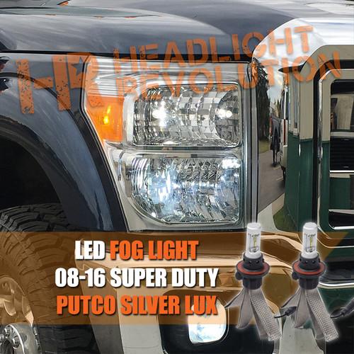 2008-2016 Ford Super Duty LED Fog Light LED Bulbs Upgrade, Putco Silver Lux