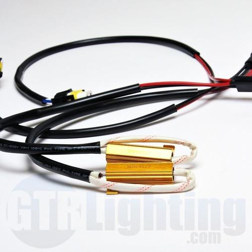 GTR Lighting H8 / H9 / H11 / 880 Style 50w Resistor T-Harness