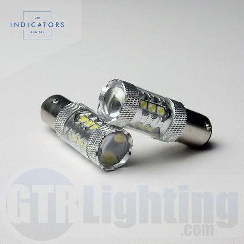 "GTR Lighting 16-LED High Power CREE (""80W"") 1157 LED Bulbs"