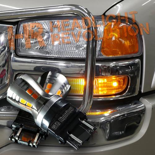 1999 - 2006 GMC Sierra Front Turn Signal LED Bulbs Upgrade Kit, Carbide Series