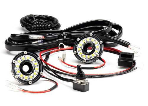 KC HiLiTES  CYCLONE LED 2-LIGHT UNIVERSAL UNDER HOOD LIGHTING KIT