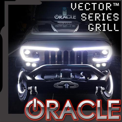 ORACLE LIGHTING VECTOR™ SERIES 2007-2017 FULL LED GRILL- JEEP WRANGLER JK