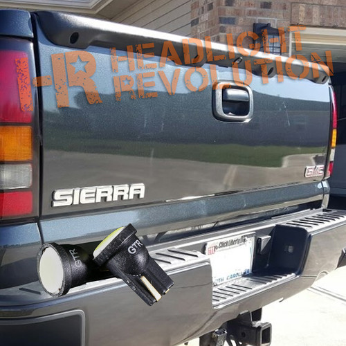 1999-2006 GMC Sierra License plate Plate Bulbs Kit