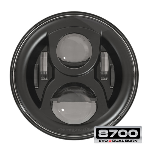 JW Speaker 8700 Evo 2 Dual Burn LED Headlight - Black