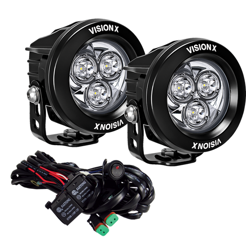 Vision X 3.7″ CG2 MULTI-LED LIGHT CANNON - Two Light Kit