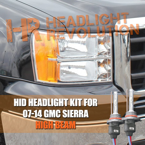 2007 - 2014 GMC Sierra High Beam HID Headlight Conversion Kit