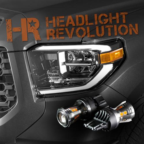 18-20 Tundra with OEM LED Headlight, LED Front Blinker Kit - Amber