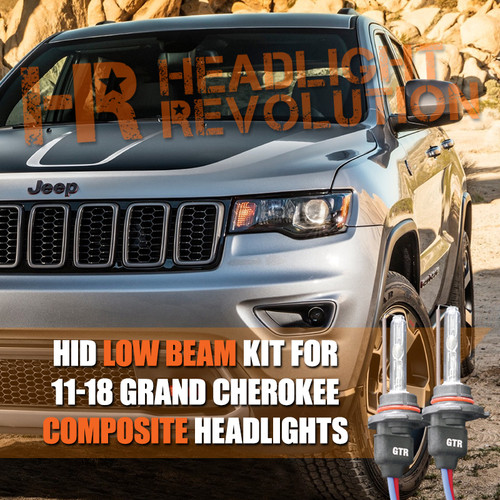 2011 - 2018 Jeep Grand Cherokee HID Low Beam Conversion Kit